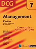 DCG 7 - Management - Corrigs des applications - Nathan 2011