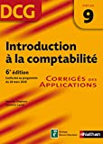 DCG 9 - Introduction  la comptabilit - Corrigs - Nathan 2012/2013