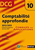 DCG 10 - Comptabilit approfondie - Corrigs - Nathan 2012/2013