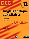 DCG 12 - Anglais appliqu aux affaires - Corrigs - 2nd dition - Nathan 2012