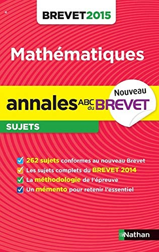 Annales ABC du BREVET 2015 Maths 3e
