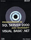 couverture du livre Programmation SQL Server 2000 avec Visual Basic .Net