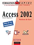 couverture du livre 'Access 2002 Notions de base'