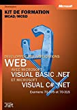 couverture du livre 'Développer des applications WEB avec Microsoft VISUAL BASIC.NET et Microsoft VISUAL C#.NET'