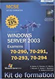 couverture du livre 'Windows Server 2003- Coffret MCSE (4 volumes)'