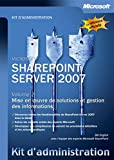 couverture du livre Kit d'administration SharePoint Server 2007 - Volume 2