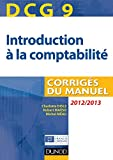 DCG 9 - Introduction � la comptabilit� - Corrig�s - Dunod 2012/2013