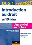 DCG 1 - Introduction au droit en 19 fiches - Dunod 2012/2013