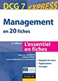 DCG 7 - Management en 20 fiches - Dunod express 2012