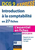 DCG 9 - Introduction � la comptabilit� en 27 fiches - Dunod 2013/2014