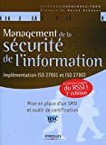 Management de la scurit de l'information - 3 dition - Eyrolles 2012