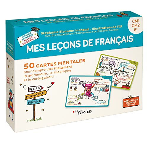 Mes leçons de français: 50 cartes mentales pour comprendre facilement la grammaire, l'orthographe et la conjugaison ! CM1-CM2-6e