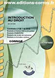 DCG 1 - Introduction au droit - Corrigs - Pochette Corroy 2012