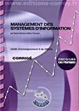 DSCG 5 - Management des systmes d'informations - Corrigs - Pochette Corroy 2012