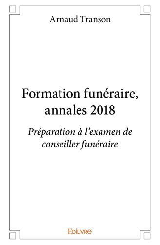 Formation funéraire, annales 2018