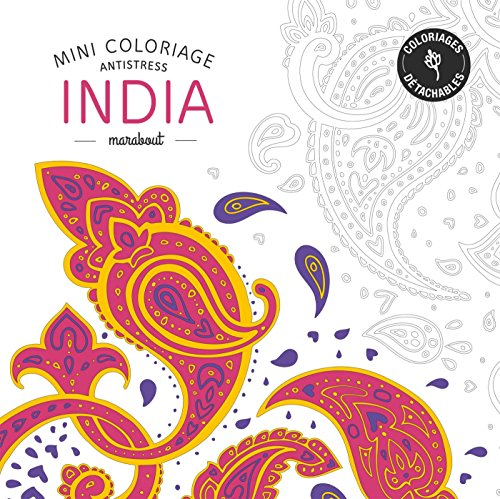 Mini coloriage antistress «India» par Collectif