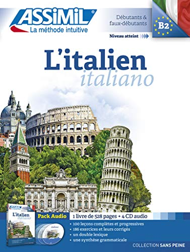 L'italien Pack Audio ( 1 livre de 528 pages + 4 CD audio) par Anne-Marie Olivieri