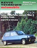 RENAULT R5 Alpine automotive repair manual