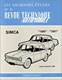 SIMCA 1300 automotive repair manual