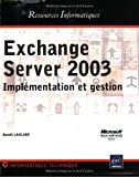 couverture du livre Exchange Serveur 2003