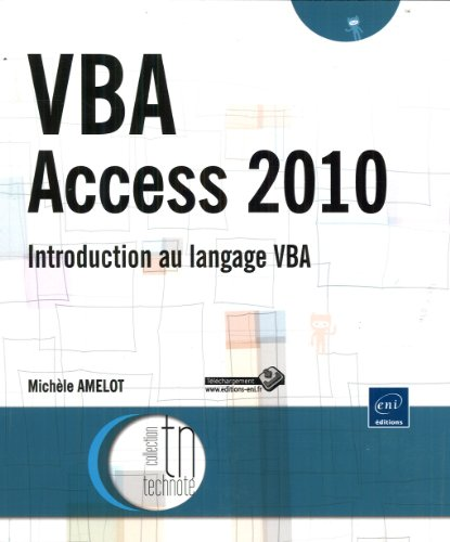 VBA Access 2010 - Introduction au langage VBA