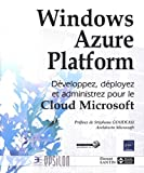 couverture du livre Windows Azure Platform