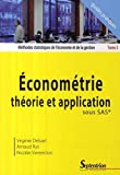 couverture du livre Econometrie th�orie et application sous SAS