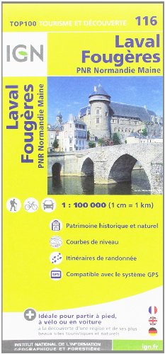 TOP100116 LAVAL/FOUGERES  1/100.000 par IGN