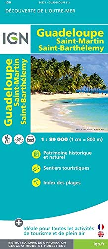 Guadeloupe/ St-Martin/ St-Barthelemy : 1/80,000 par Collectif