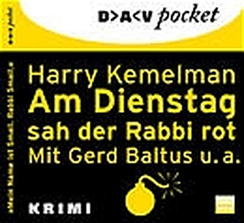 Kemelman, Harry - Am Dienstag sah der Rabbi rot