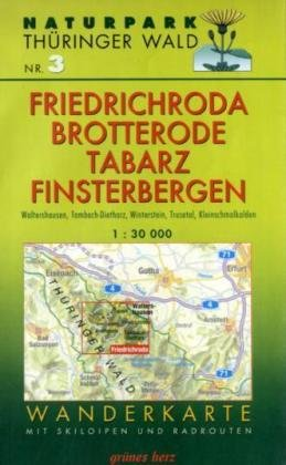 Wanderkarte Friedrichsroda, Brotterode, Finsterbergen, Tabarz