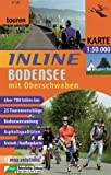 Inline-Skating: Inline Bodenseeregion mit Oberschwaben 1 : 50 000 / 1 : 100 000: Inline-Tourenkarte. 25 Tourenvorschlge. Bodenseerundweg. Asphaltqualitten