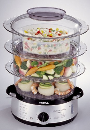 Tefal 616119 steam cuisine 3 tier steamer reviews for Cuisine x stubru