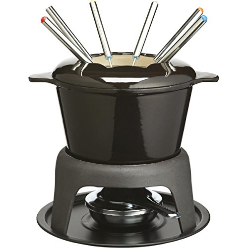Kitchen Craft Cast Iron Deluxe Enamelled Fondue Set