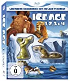 Top Angebot Ice Age 1-4 Boxset inkl. Ice Age-Figuren [Blu-ray]