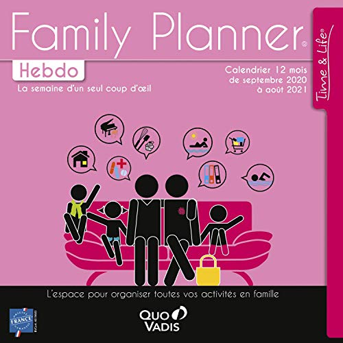 Quo Vadis Time & Life CALENDRIER FAMILY PLANNER HEBDO 30x30 FR Année 2018-2019
